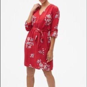 Gap Floral Tie-Belt Dress Size XXL